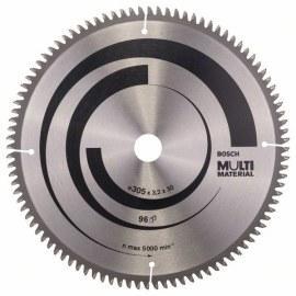 Katkaisuterä puulle Bosch MULTI MATERIAL; 305x3,2x30,0 mm; Z96; -5°