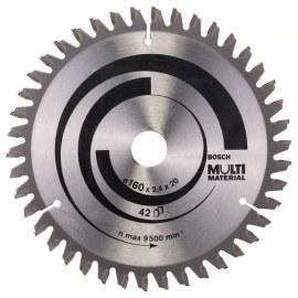 Katkaisuterä puulle Bosch MULTI MATERIAL; 160x2,4x20,0 mm; Z42; -5°