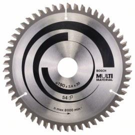 Katkaisuterä puulle Bosch MULTI MATERIAL; 190x2,4x30,0 mm; Z54; -5°
