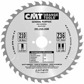 Katkaisuterä puulle CMT 210x2,8x30; Z36; 15°