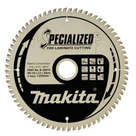 Katkaisulaikka laminaatille Makita; 216x2,5x30,0 mm; Z72; 5°
