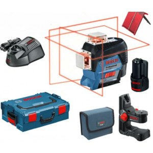 Linjalaser Bosch GLL 3-80 C + BM 1 + L-Boxx