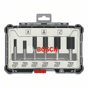 Jyrsinteräsarja  Bosch Straight; 8 mm; 6 osat
