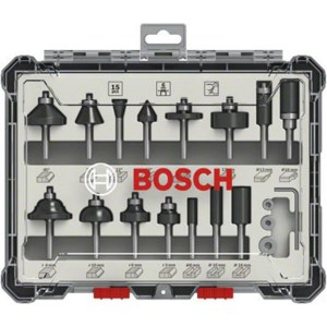 Jyrsinteräsarja  Bosch; 6 mm; 15 kpl.