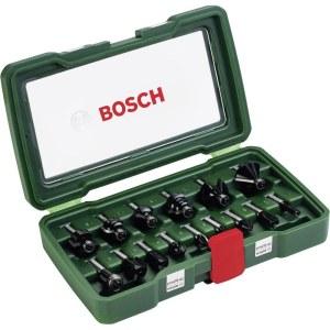 Jyrsinteräsarja  Bosch; 15 kpl.