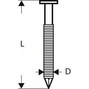 Lankanaulat Bosch SN21RK 60RG; 2,8x60; 21°; 4000  kpl.