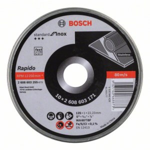 Hiova katkaisulaikka Bosch Rapido 125x1 mm; 10 kpl.