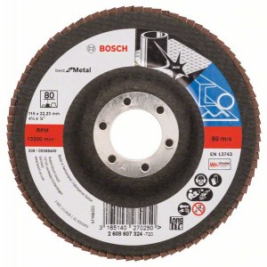 Lamellihiomalaikka  Bosch Best for Metal; 115 mm