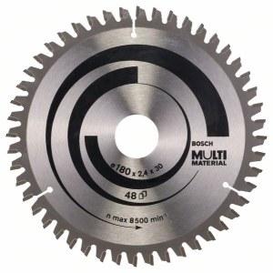 Katkaisuterä puulle Bosch MULTI MATERIAL; 180x2,4x30,0 mm; Z48; -5°