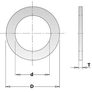 Pienennysrengas CMT 299.213.00; 1,4x19,05x25,4 mm
