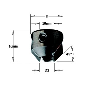 Jyrsinterä CMT 315.220.12; 22 mm; D2=11-12 mm
