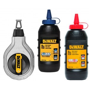 Merkintäliitu täyttöpakkaus, liitulanka / mittanauha DeWalt DWHT47049; 225 g; sininen