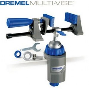 Multi-Vise: ruuvipuristin, itsenäiset leuat ja työkalunpidin Dremel Multi-Vise 2500