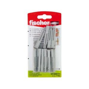 Nylon ankkuri Fischer UX; 12x70 mm; 20 kpl.