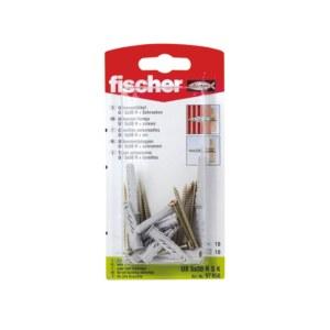 Ruuvit tapeilla Fischer UX R S; 8x50 mm; 10 kpl.