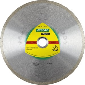 Timanttilevy märkäleikkaukseen Klingspor DT 600 F Supra; 200x1,9x30,0 mm