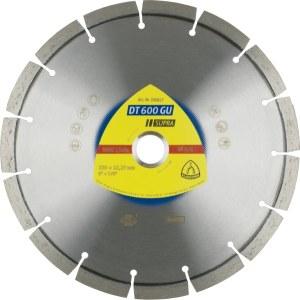Timanttikatkaisulaikka kuivaleikkaukseen Klingspor DT 600 GU Supra; 230x2,6x22,23 mm