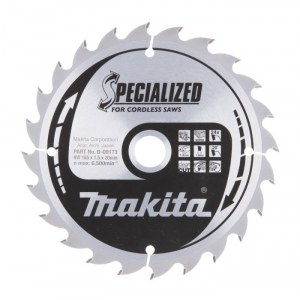 Katkaisuterä puulle Makita; 165x1,5x20,0 mm; Z24; 20°
