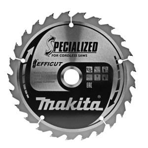 Katkaisuterä puulle Makita EFFICUT; 165x1,4x20,0 mm; Z25; 23°