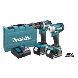Työkalusarja Makita DLX2410G (DDF484+DTW300); 18 V; 2x6,0 Ah akku