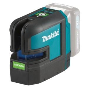 Ristilinjalaser Makita SK105GDZ; 10,8 V vihreä (ilman akkua ja laturia)