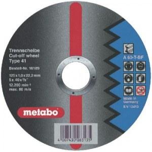 Hiova katkaisulaikka Metabo; 125x1 mm metalille