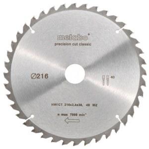 Katkaisuterä puulle Metabo Classic;  Ø216 mm