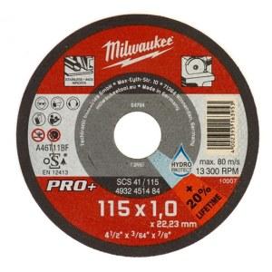 Hiova katkaisulaikka Milwaukee PRO+ 4932451484; 115x1 mm; metalille