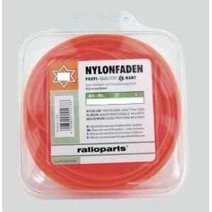 Leikkuulanka Nylon line (1,6 mm/15 m) punainen, kuusikulmio