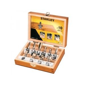 Jyrsinteräsarja  Stanley; 8 mm; 10 kpl.