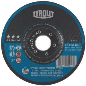 Hiomalaikka Tyrolit; Ø125x7 mm