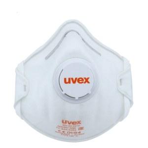 Hengityssuojain venttiilillä Uvex Silv-Air Classic 2210 FFP2; valkoinen