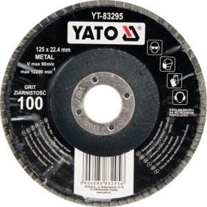 Lamellihiomalaikka  Yato YT-83292; P40; 125x22 mm
